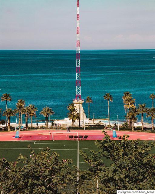 🇱🇧🇧🇷 Fim de tarde perfeito para uma caminhada pelo campus da... (American University of Beirut (AUB))