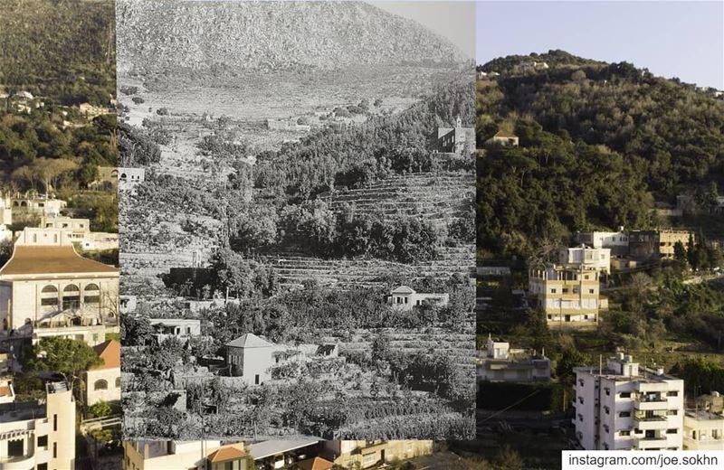 Swipe 👈 Jdeidet - Ghazir 1931 - 88 years separating these pictures, top...