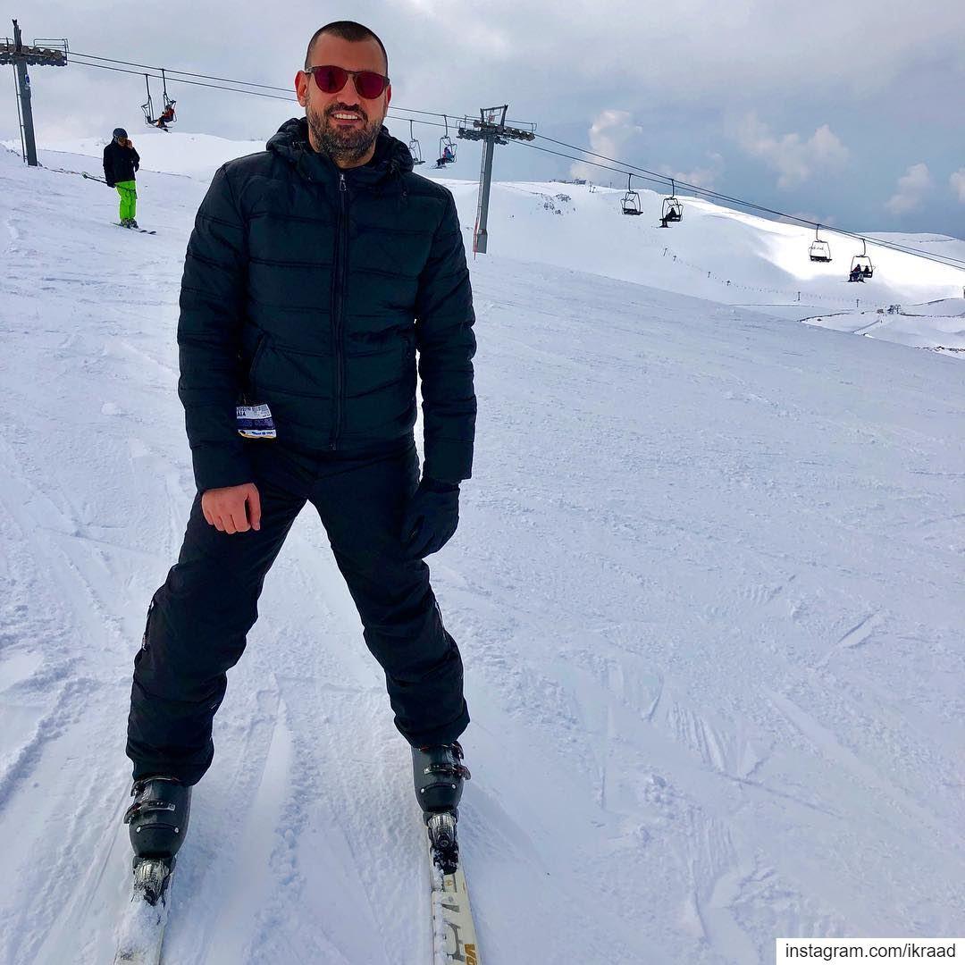 Mountain is calling ski skiing Lebanon slopes adrenaline snow 🎿 ❄ (Mzaar Ski Resort Kfardebian)