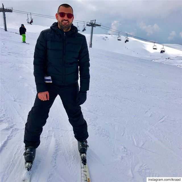 Mountain is calling ski skiing Lebanon slopes adrenaline snow 🎿 ❄ (Mzaar Ski Resort Kfardebian)