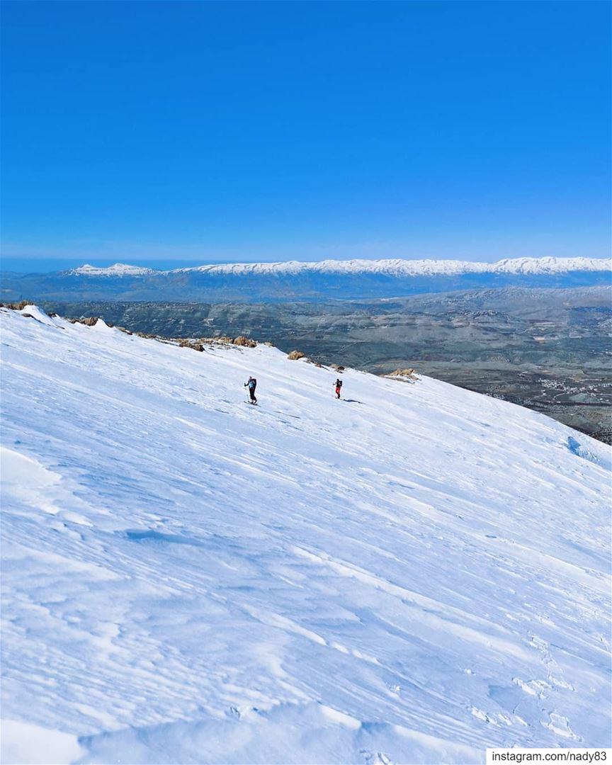 Mount Hermon Endless slopes 🎿جبل الشيخ .. backcountryskiing...