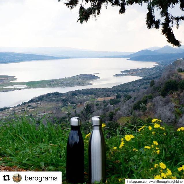 Repost @berograms ・・・Less plastic while hiking insta_lebanon ... (Saghbîne, Béqaa, Lebanon)