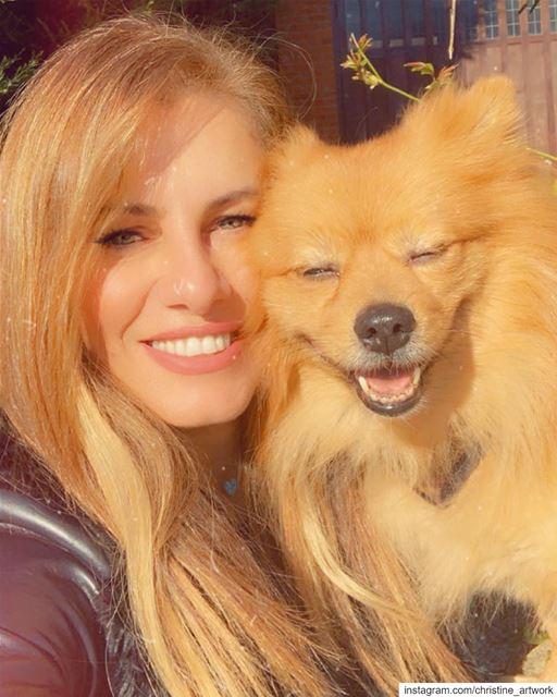 With my happy dog Rocky my hero ❤️ ☀️....... art oilpainting...