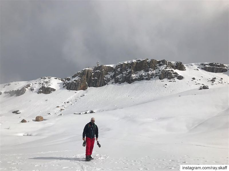 Snow wandering‼️.... ............... lebanon  nature ... (Hotel Snow Cliff)