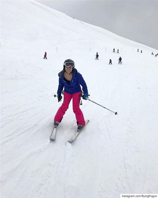 Never ending smiles!!Come learn ski with us or work on your technique!.... (Mzaar Ski Resort Kfardebian)
