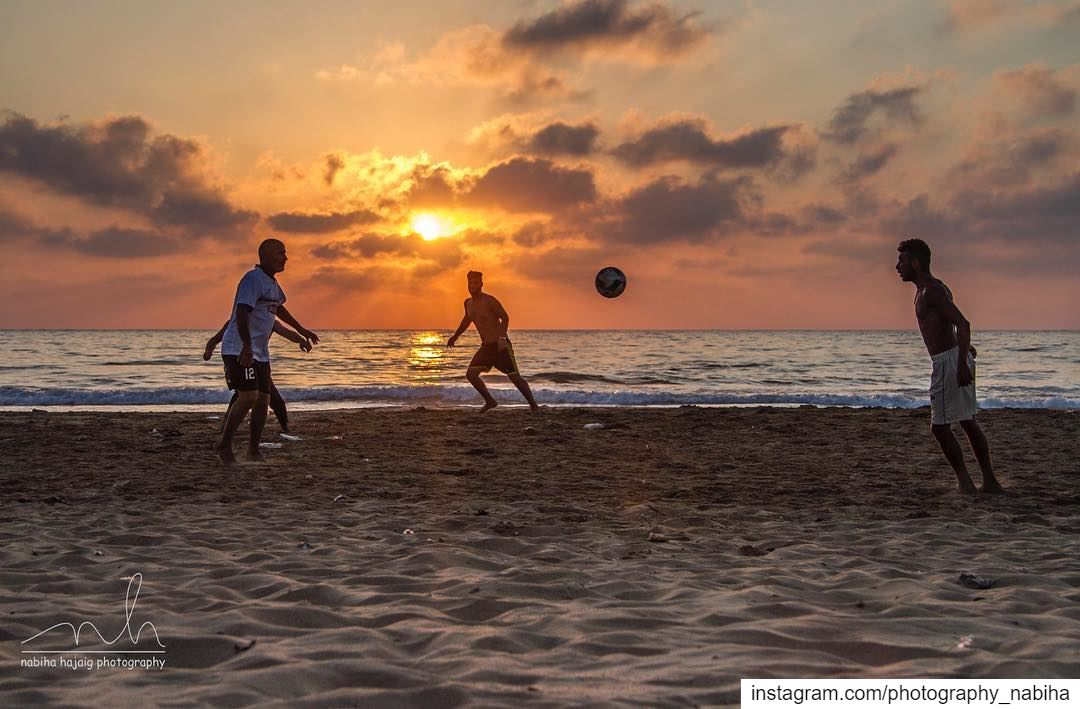 Last Summer, a group of Palestinian Refugees playing at Sour Beach. ... (Tyre, Lebanon)