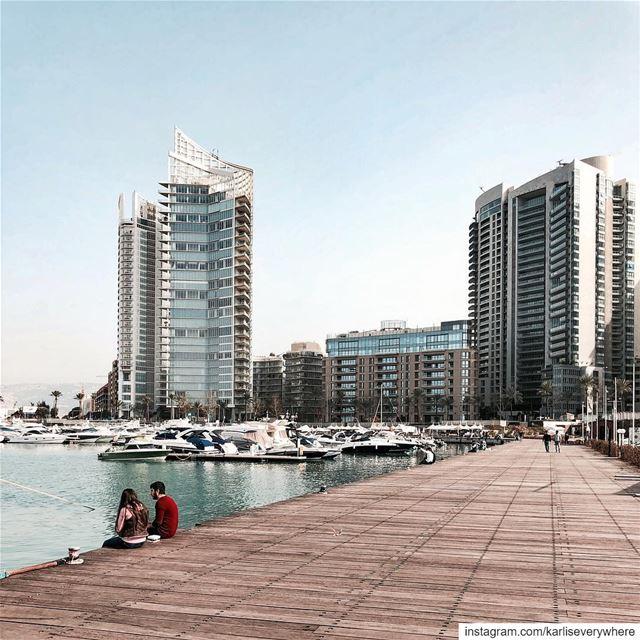 Have a Beirut-iful day ✨ Beirut shotoniphone... (Zaitunay Bay)