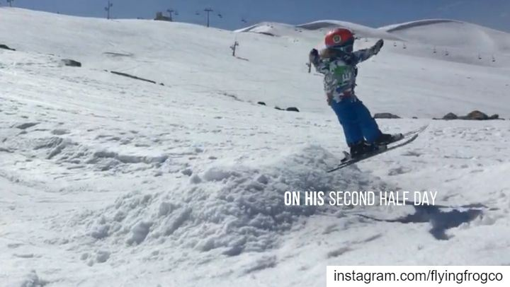 SamHad one ski session at the age of 2 years 2 months;3 years after he... (Mzaar Ski Resort)