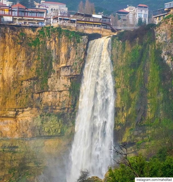 Jezzine waterfall southern lebanon Pysglb mountains winter rainydays... (Jezzîne, Al Janub, Lebanon)