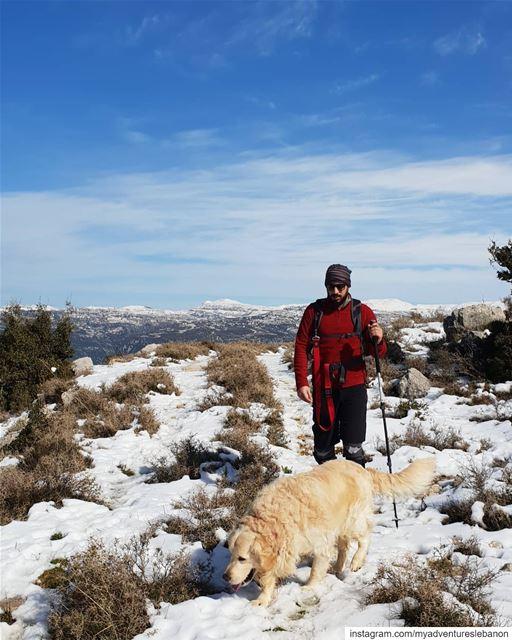 Dog love 😍🐶 myadventureslebanon mountaineering choosemountains ... (Lebanon)
