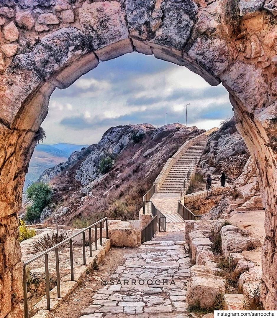 Faith is taking the first step even when you don't see the whole staircase... (قلعة شقيف)