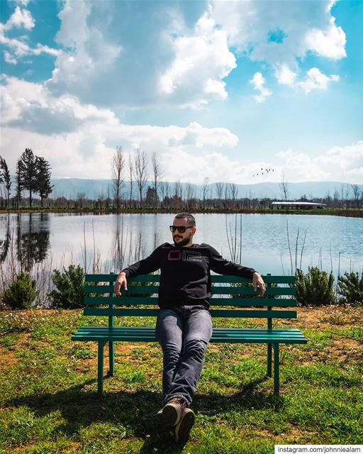 Learn to sit back and observe. Not everything needs a reaction 😎....... (Deïr Taanâyel, Béqaa, Lebanon)