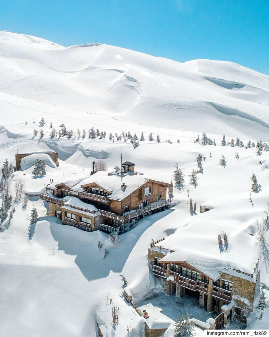 Norway? No this is Lebanon ❄️... mzaar kfardebian lebanon dji ... (Mzaar Kfardebian Ski Slopes)