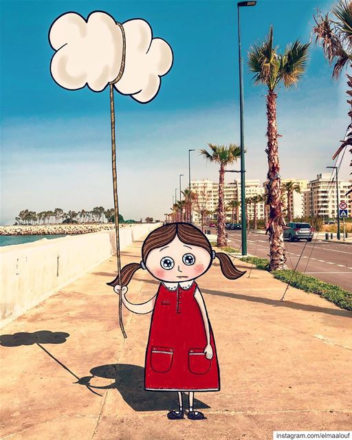 - Make the Rain go Away Please 👧🏻 -..... liveloveart  art_help ... (Dbaïyé, Mont-Liban, Lebanon)