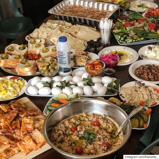 Our Sunday Lebanese Morning 🥰..الترويقة اللبنانية ❤️..... (Laval, Quebec)