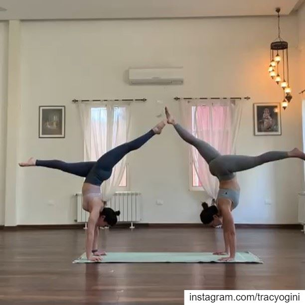 Practicing handstands together is always more fun! That's why we're giving... (Sarvam Yoga)