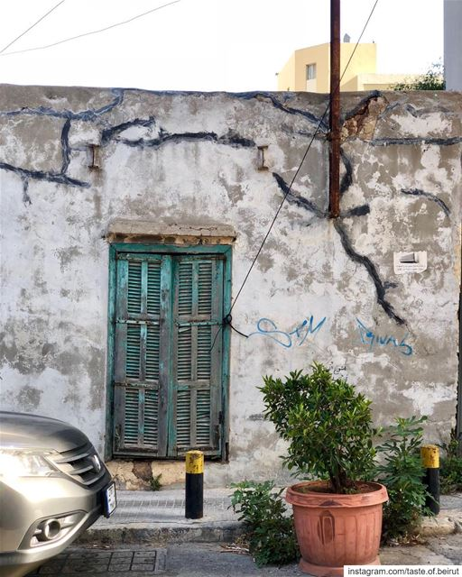 Shabby chic; Beirut wall. beirut visitbeirut livelovebeirut noparking ...