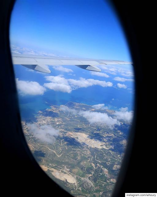 amchit amshit northlebanon tripoli lanf air sea clouds airplaneview... (Amchit)