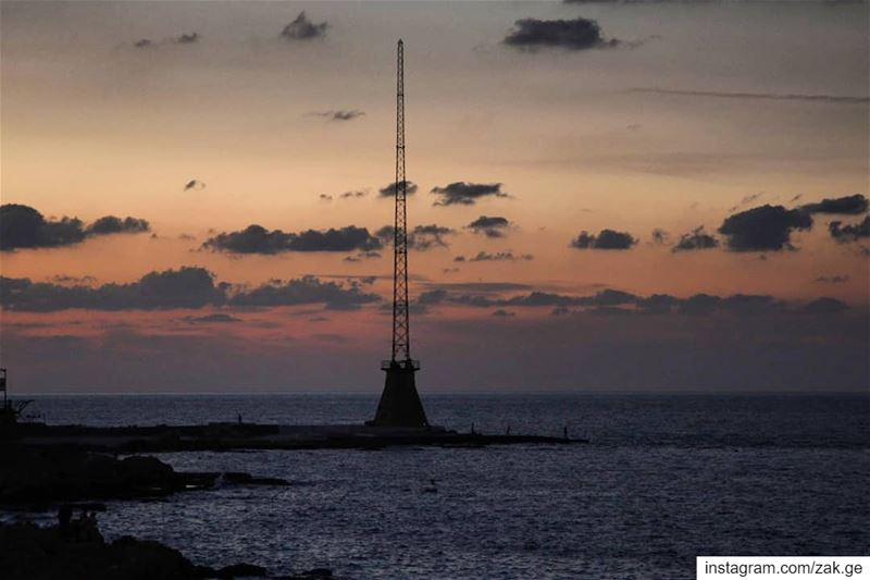 Silent sunset beirut lebanon leb sea middleeastern middleeast blue ... (Beirut, Lebanon)