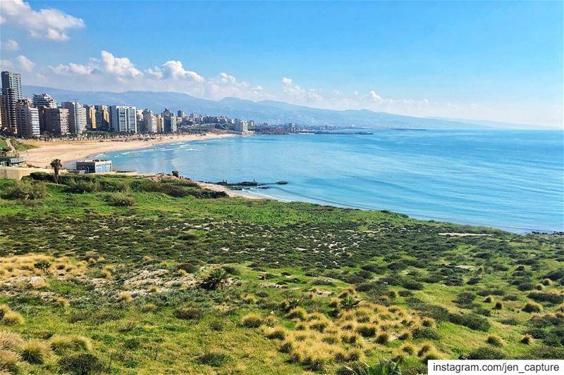 From today's jogging! EpicWeather😎••• beirut lebanon lebanese ... (Beirut, Lebanon)