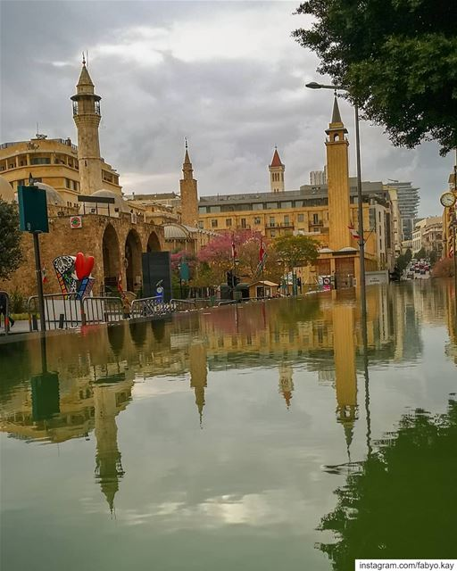 libanon beirut downtownbeirut libano mosque church reflection canonme... (Beirut, Lebanon)