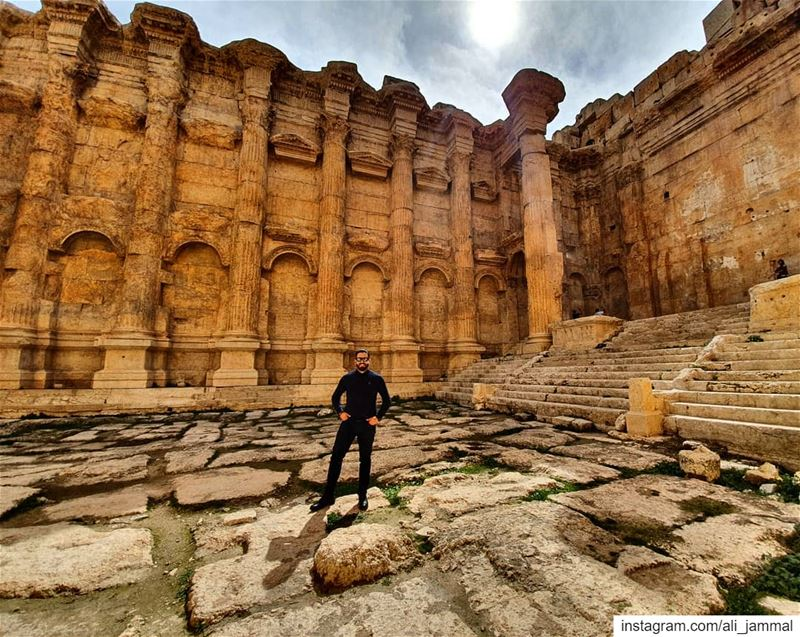 A tourist in my hometown. me  history  great  greatness  baalbeck ... (Baalbek , Roman Temple , Lebanon)