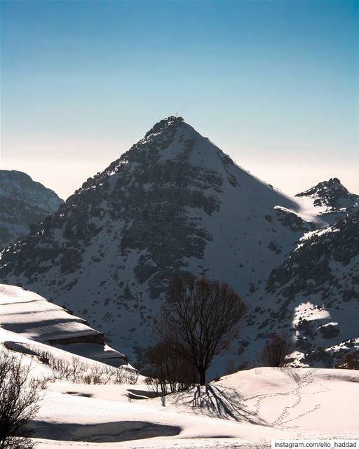 Good Morning LEBANON 🇱🇧 me Winter Mountains Mountain Snow White ... (El Laklouk, Mont-Liban, Lebanon)