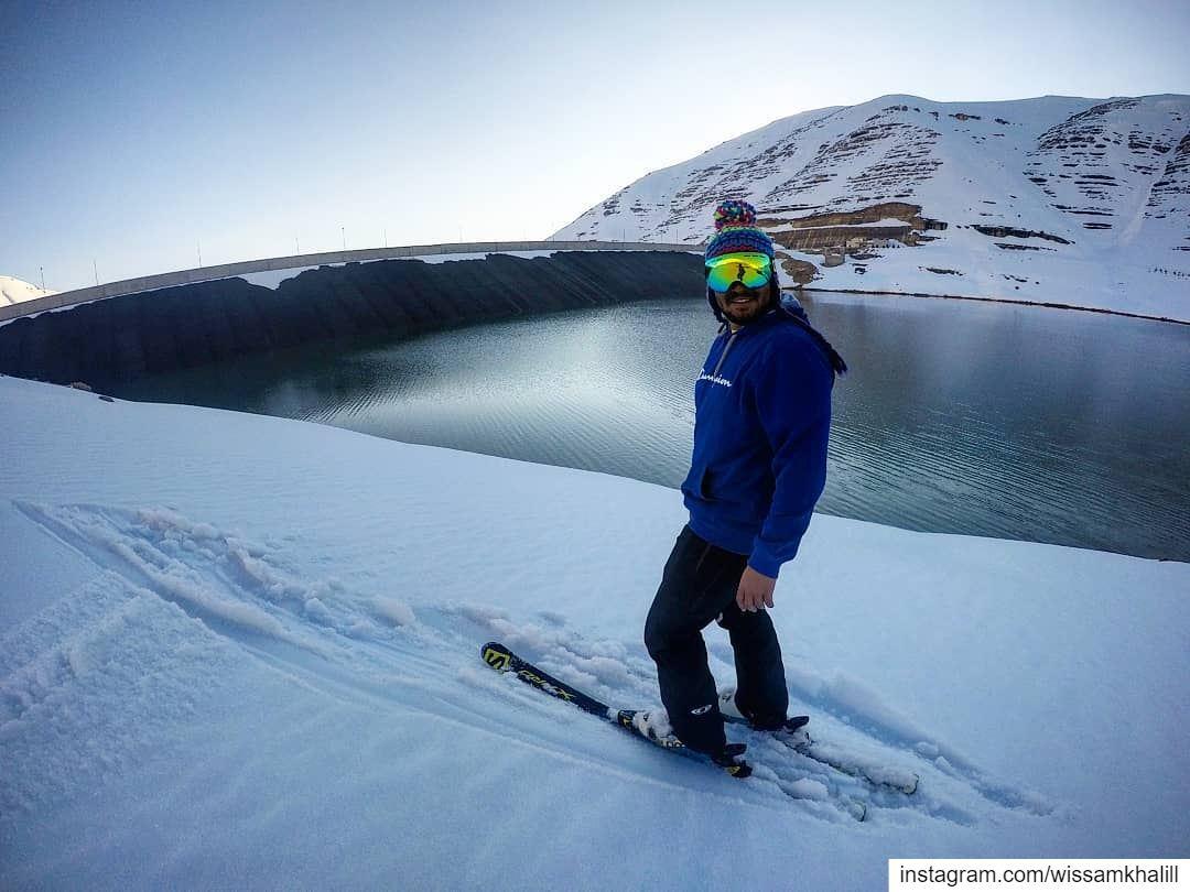 Skiing over Chabrouh Dam-Faraya faraya farayalovers lebanon ... (Faraya, Mont-Liban, Lebanon)
