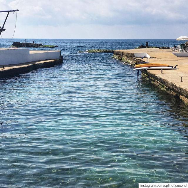 Summer hurry up!!!! ☀️ ... lebanon travel beach ... (Sporting Club Beach)