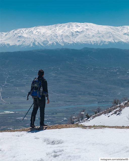 It's easier to go down a hill than up,but the view is from the top........ (West Bekaa)