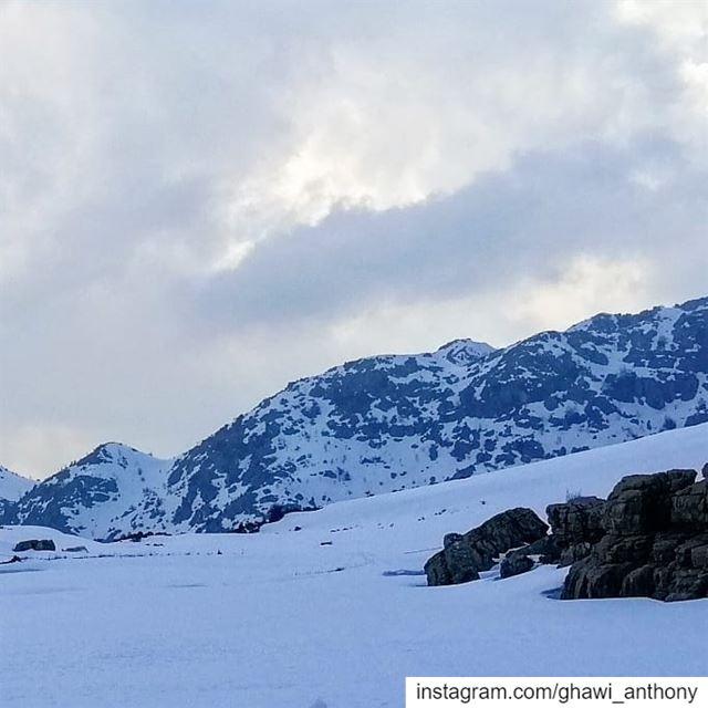🏔️💙_______________________________ snow snowview snowlovers ... (El Laklouk, Mont-Liban, Lebanon)