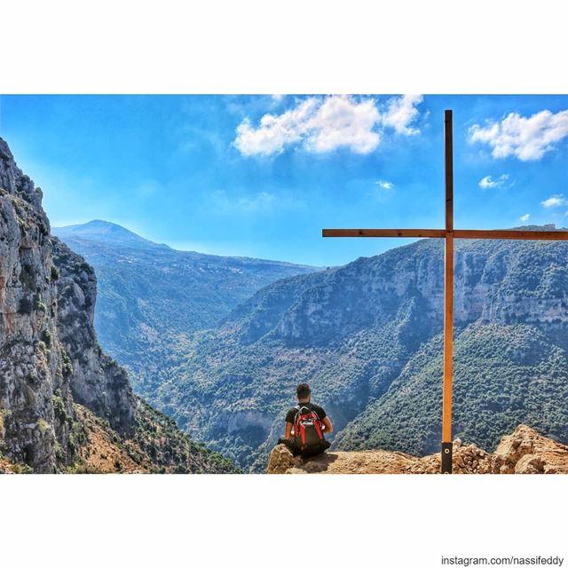 Appreciate the view in the valley! livelovelebanon lebanonadventure ... (Wadi Annoubin)