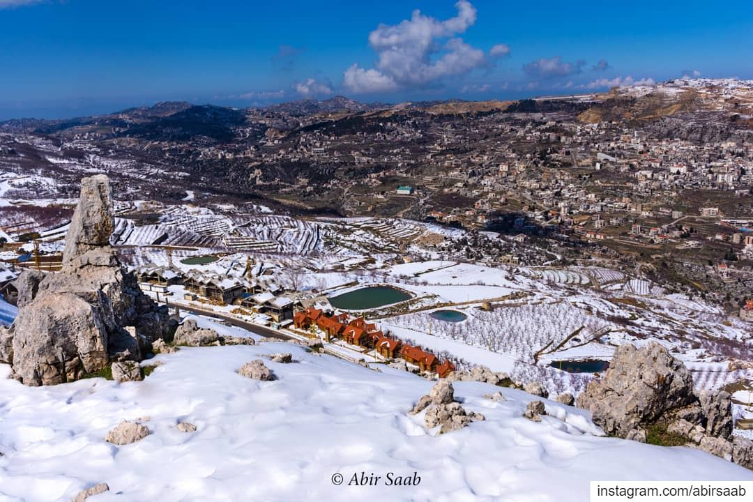 The view from Faqra & the guardian watching for the cities to safeguard... (Kfardebian, Mont-Liban, Lebanon)