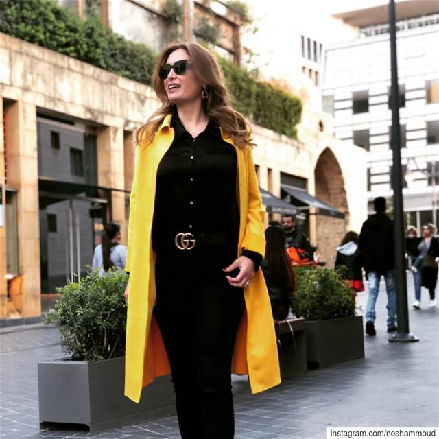 How lovely yellow is ! It stands for the sun ☀️ hellosunshine morning... (Beirut Souks)