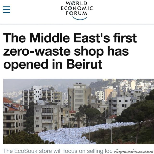 The  EcoSouk  circularhub featured in @worldeconomicforum Kehdy spoke...