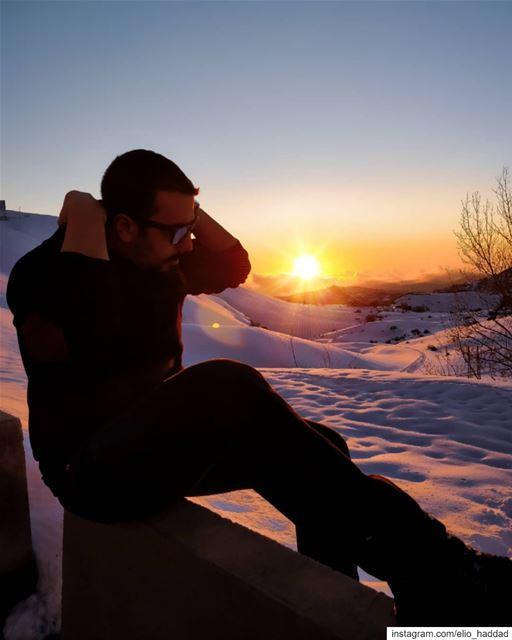 Sunset Lebanon Kfardebian 🇱🇧 ShotOnOnePlus OnePlus Sun Snow Sky ... (Kfardebian, Mont-Liban, Lebanon)