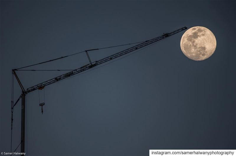 Always Lift your moon up! ...from the sky of beirut lebanon this ...