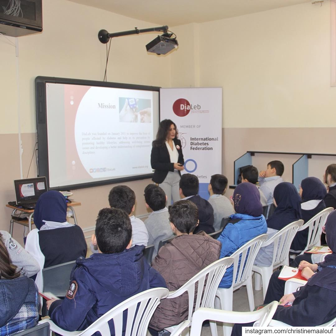From @dialeb's latest Diabetes in the Classroom awareness session at St... (Haret Hreik)