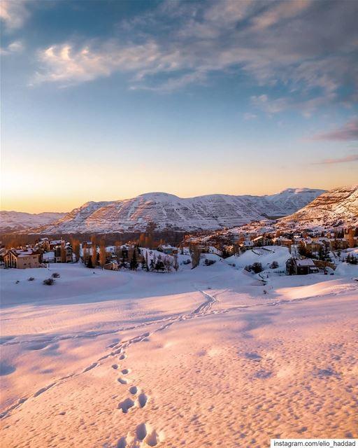 Good Morning Lebanon 🇱🇧 ShotOnOnePlus 📱 OnePlus Sunset Snow ... (Kfardebian, Mont-Liban, Lebanon)