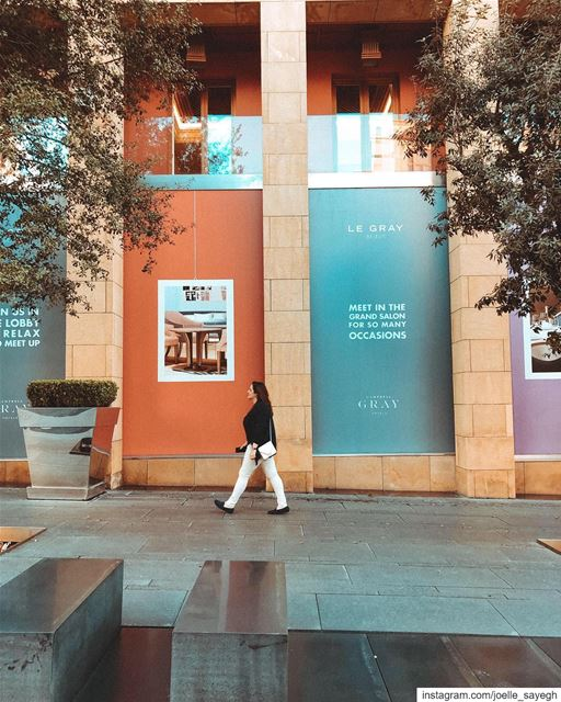 Simplicity is the key to brilliance .Street walk downtown colour ... (Le Gray, Beirut)