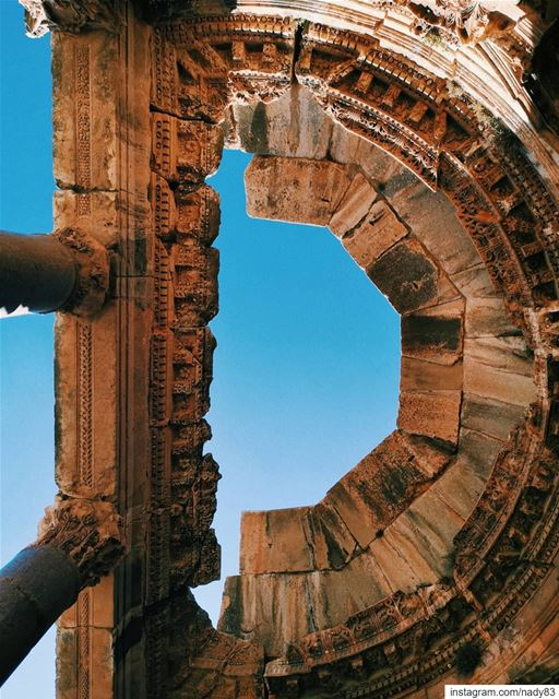 2nd century AD architecture...  instagood  webstapick  photooftheday ... (Baalbek , Roman Temple , Lebanon)