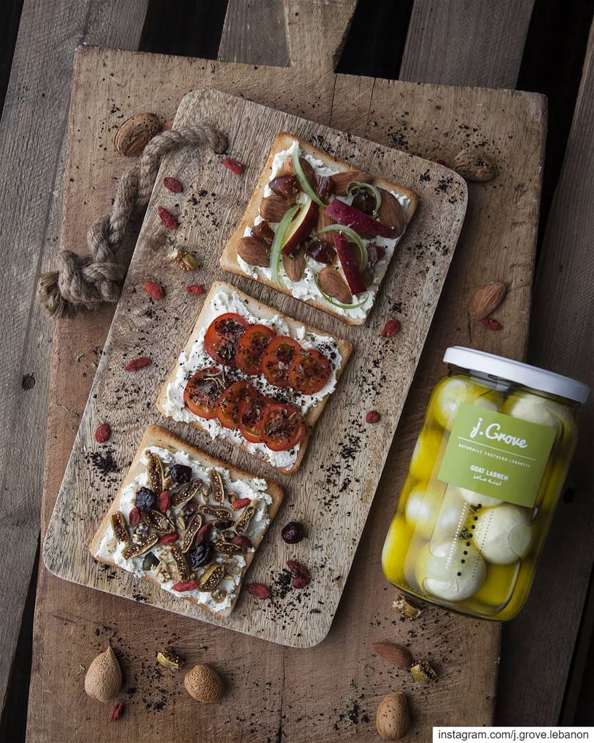Delicious ways to enjoy tangy Labneh with a sweet or savory twist 🍞🍅🍏...