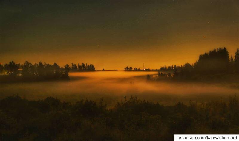 _Crawl mist crawl_ night nightphotography longexposure fullmoon mist... (Bissârîyé, Al Janub, Lebanon)
