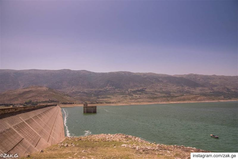 Barriers. bekaa lebanon leb lake barrage barrier blue ... (West Bekaa)