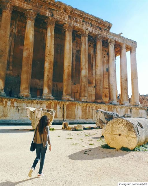 The Mighty Bacchus temple 🏛... instagood baalbeck webstapick ... (Baalbek , Roman Temple , Lebanon)