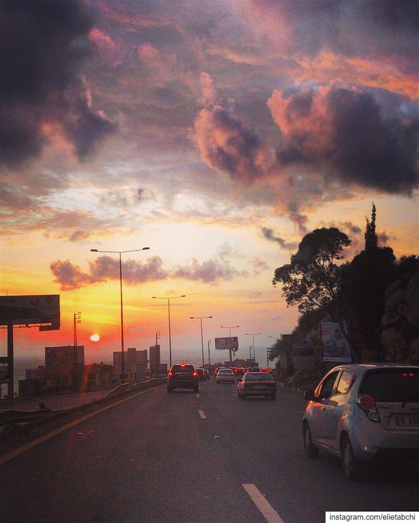 My daily magic hour 😍 lebanon jounieh sarba casinoduliban sunset ... (Casino du Liban)