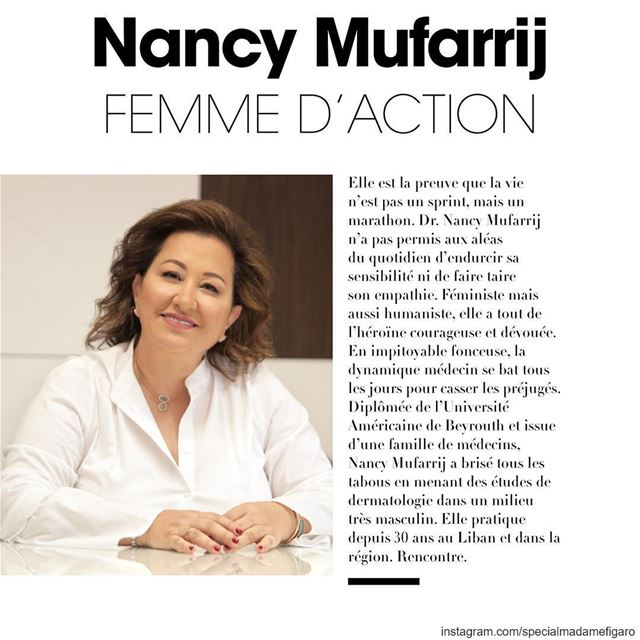 Don't miss @drnancymufarrij interview in our March issue dedicated to ...
