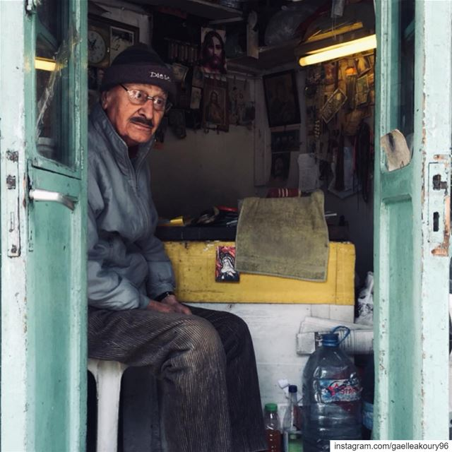 📸 swipe➡️This is Sarkis. He works as a cobbler at Achrafieh - Mar... (Mar Mikhael-Armenia The Street)