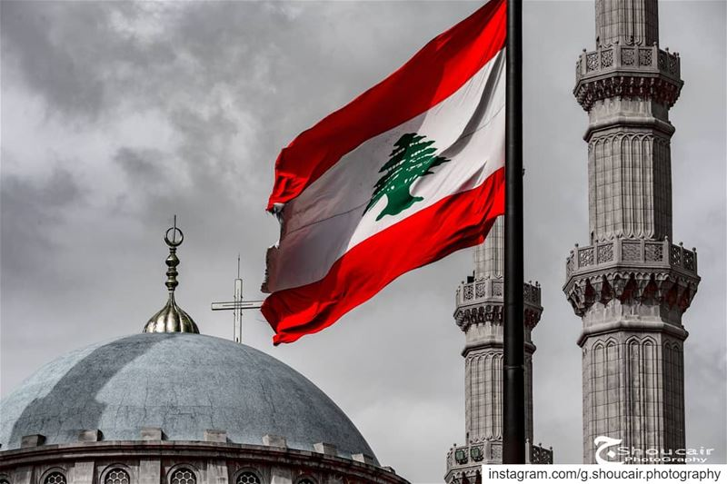 United we stand strong ⛪🕌 ______🔴⚪⚪🌲⚪⚪🔴_______ gshoucairphotography ... (Downtown Beirut)