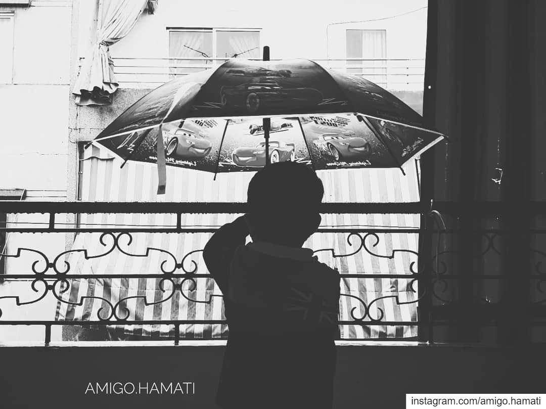 Rain rain go away little Lucas wants to play. baby beirut lebanon... (Sinn Al Fil, Mont-Liban, Lebanon)